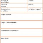 Ficha de festividades y tradiciones españolas