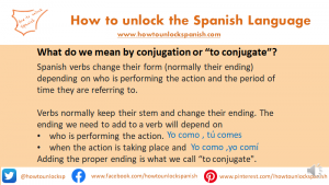 What is to conjugate
