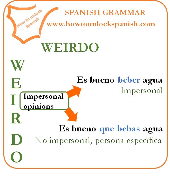 subjuntivo-subjunctive- impersonal- expressions-es ineresante - es bueno - es importante