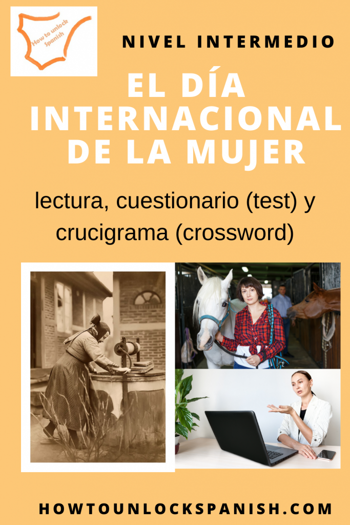 Dia-de-la-mujer-trabajadora-aprender-espanol-vocabulario-ejercicio-espanol-reading-writing-intermedio