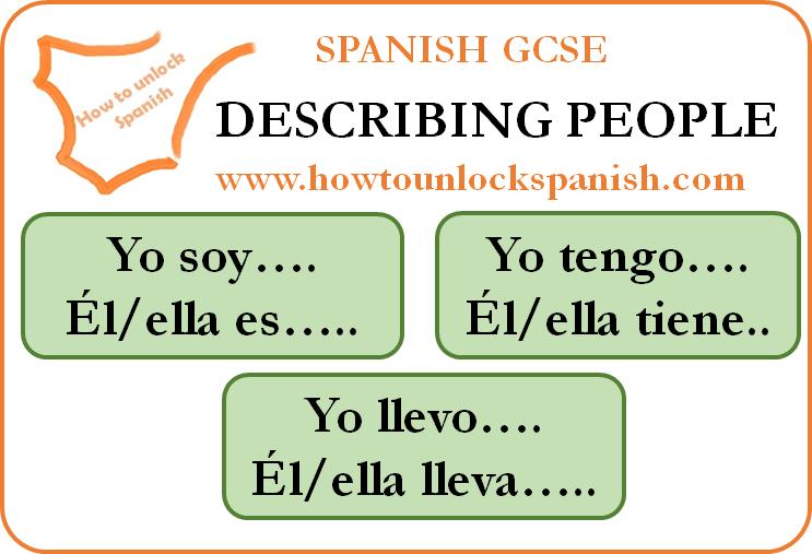 gcse aqa edexcel spanish me family and friends describir personas en español