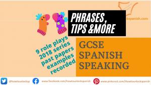 GCSE Spanish Role Play Speaking